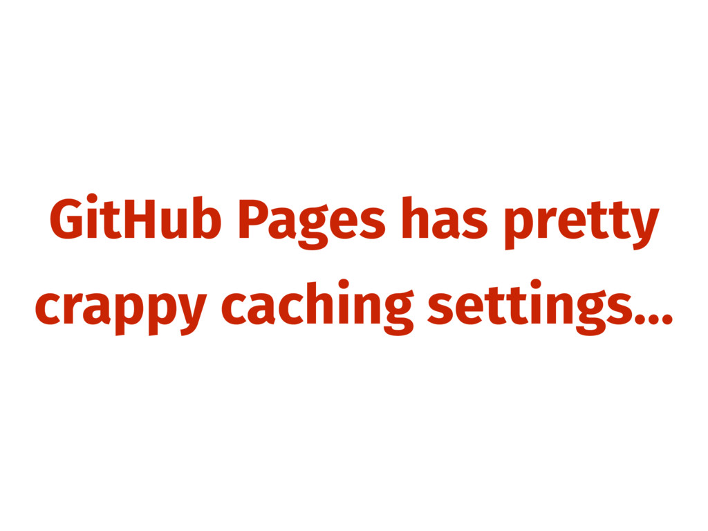 GitHub Pages has pretty crappy caching settings…