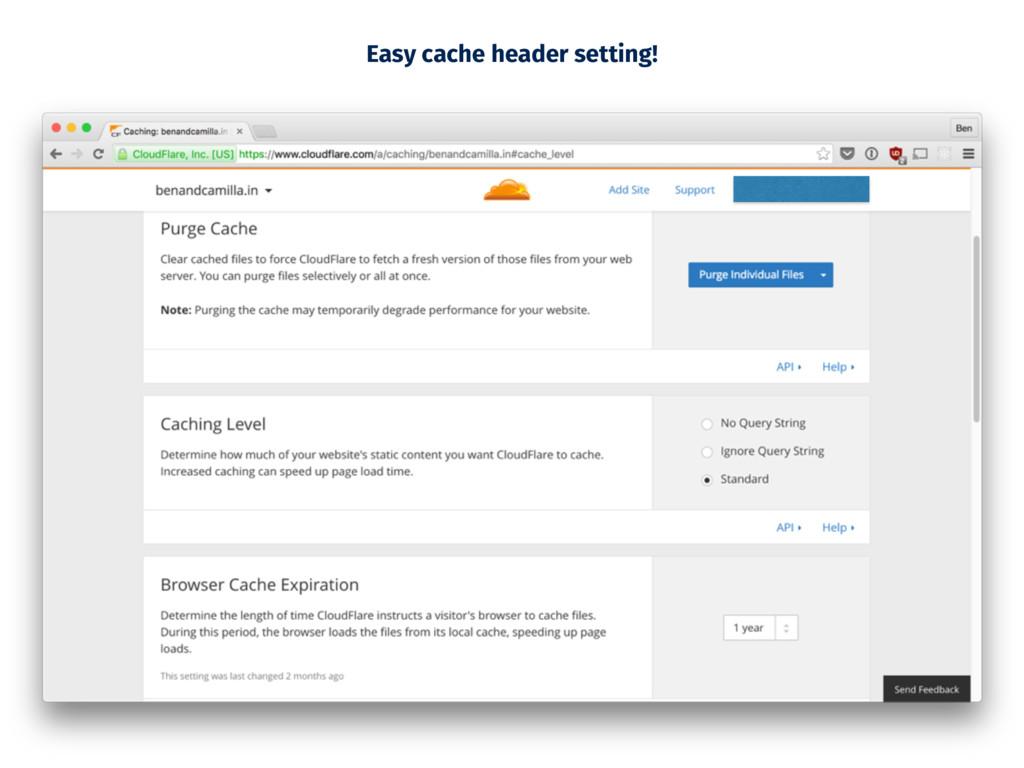 Easy cache header setting!