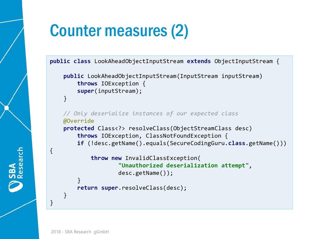 Counter measures (2) 2018 - SBA Research gGmbH ...
