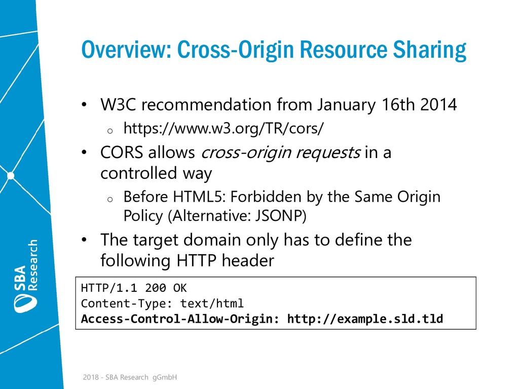 Overview: Cross-Origin Resource Sharing • W3C r...