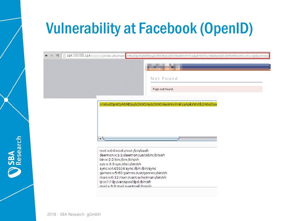 Vulnerability at Facebook (OpenID) 2018 - SBA R...