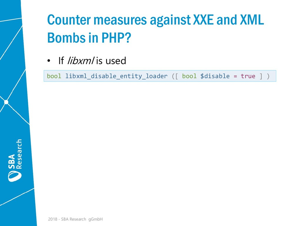 Counter measures against XXE and XML Bombs in P...