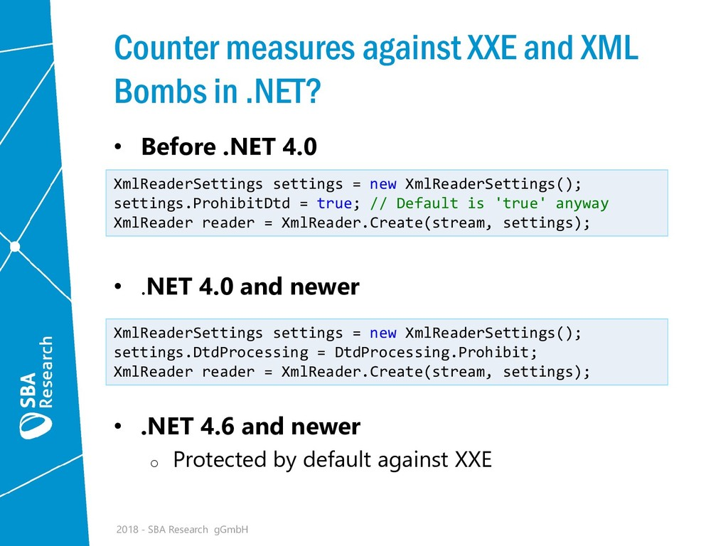Counter measures against XXE and XML Bombs in ....