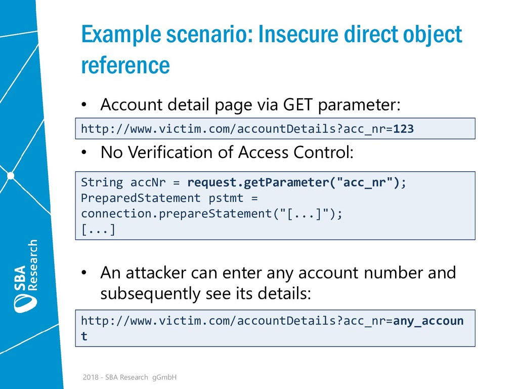 Example scenario: Insecure direct object refere...