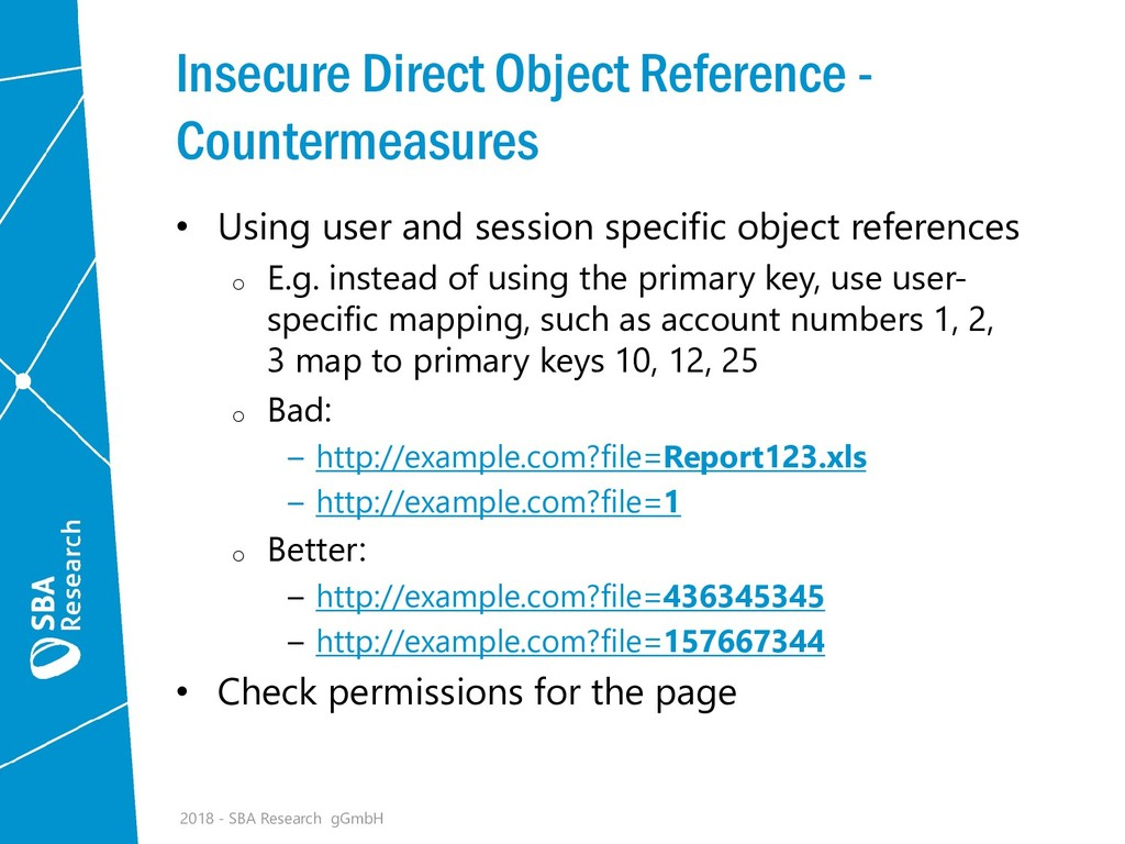 Insecure Direct Object Reference - Countermeasu...