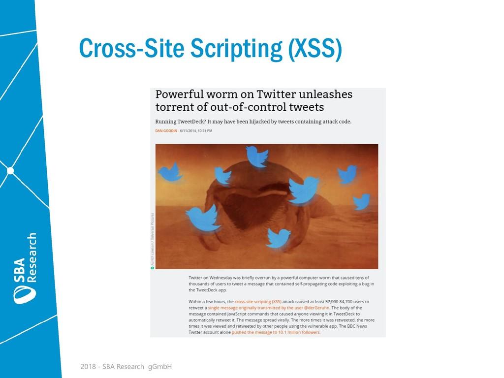 Cross-Site Scripting (XSS) 2018 - SBA Research ...