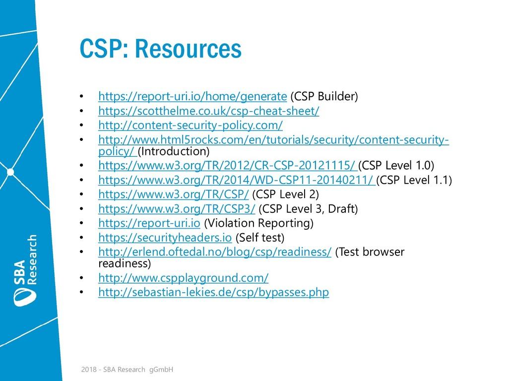 CSP: Resources • https://report-uri.io/home/gen...