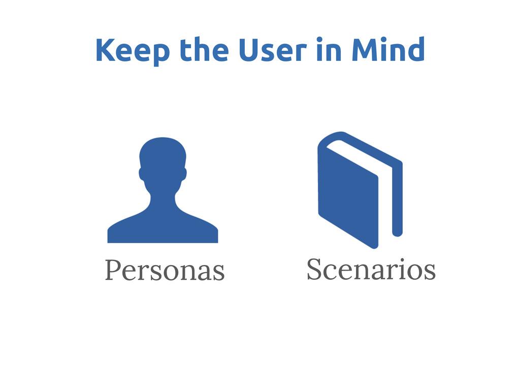 Keep the User in Mind Personas Scenarios