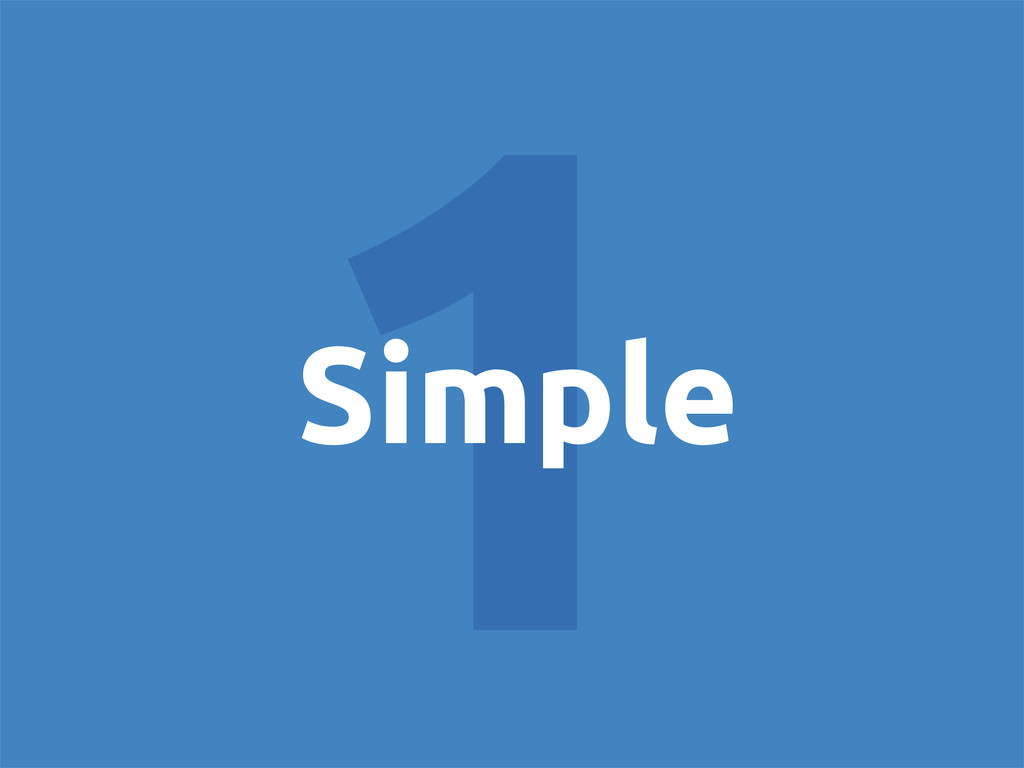 1 Simple