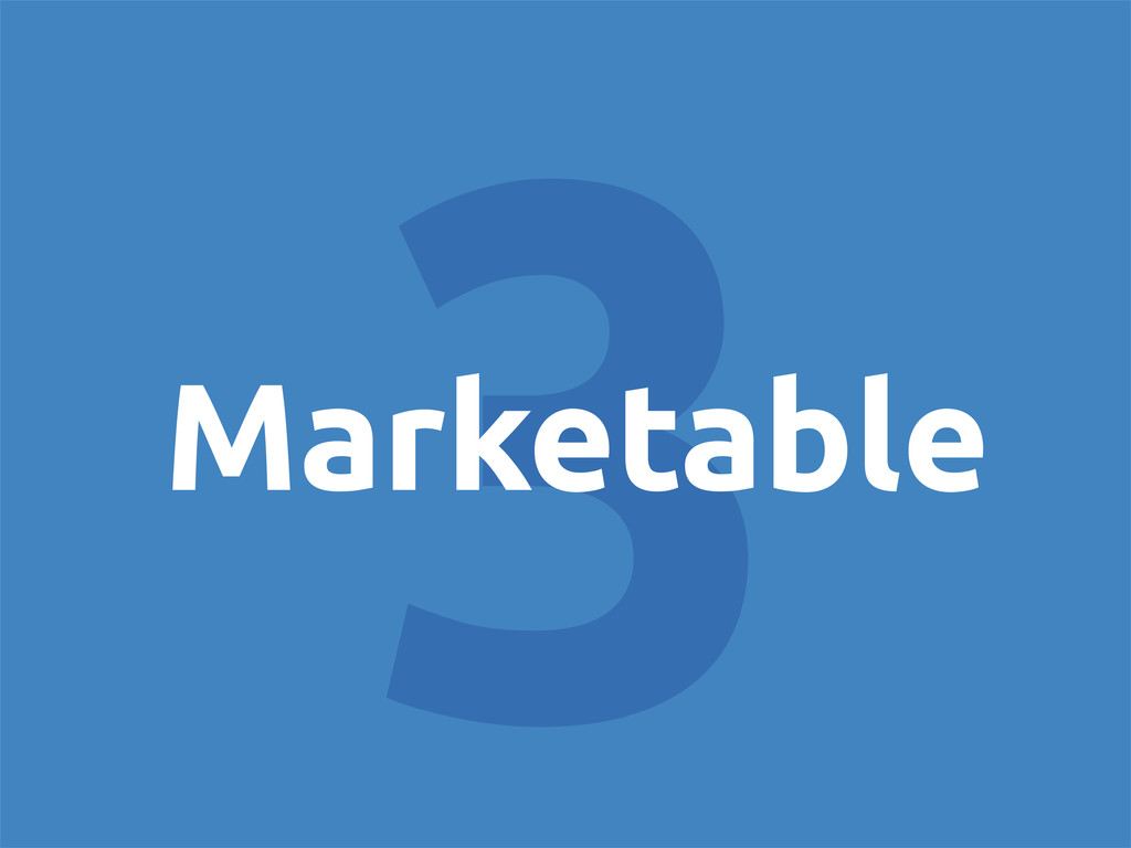 3 Marketable