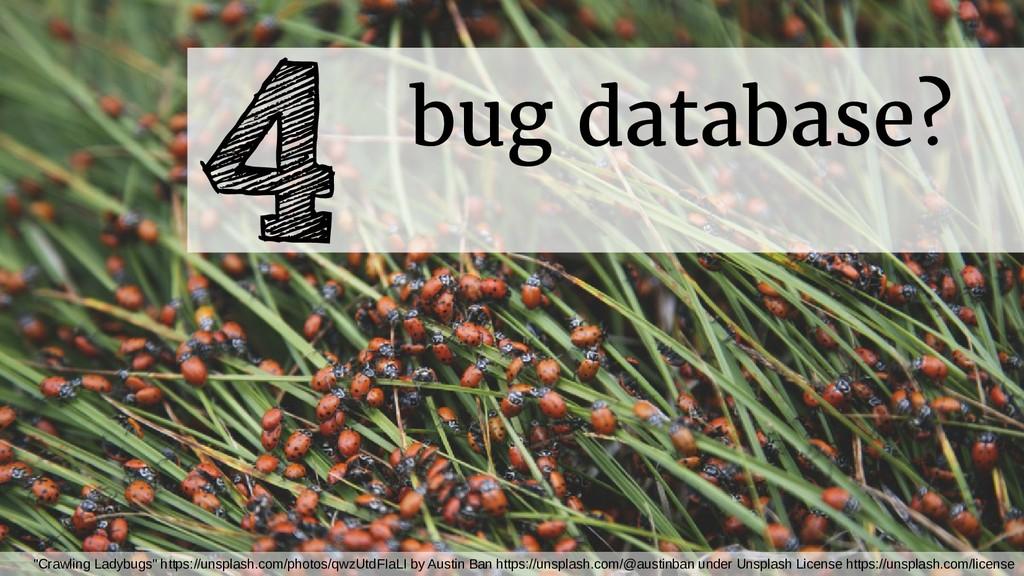 """bug database? 4 """"Crawling Ladybugs"""" https://uns..."""