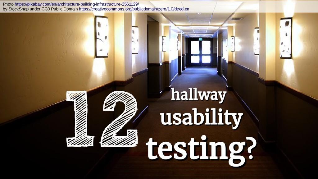 12 hallway hallway usability usability testing ...