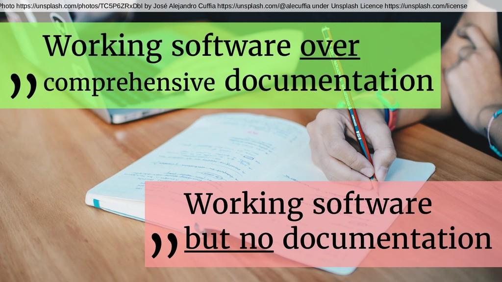 Working software over comprehensive documentati...