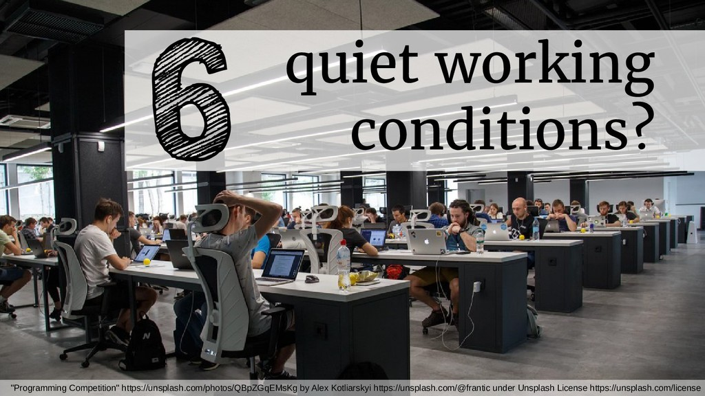 """quiet working conditions? 6 """"Programming Compet..."""