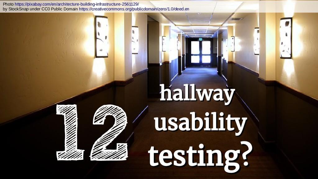 hallway hallway usability usability testing? te...