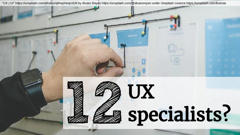 "12UX specialists? ""UX | UI"" https://unsplash.co..."