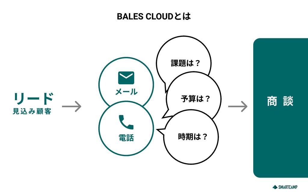 BALES CLOUDとは リード 見込み顧客 メール mail 課題は? 予算は? 時期は?...