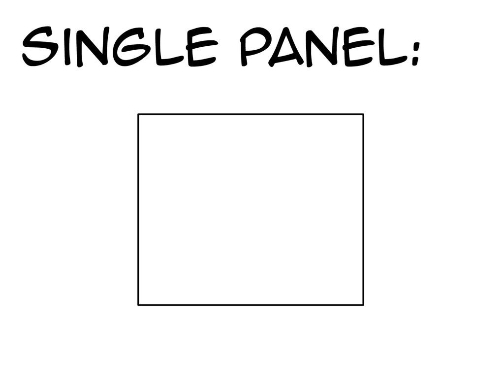 Single panel: