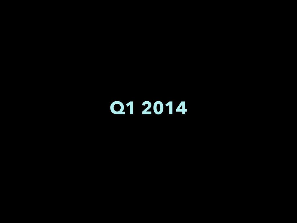 Q1 2014