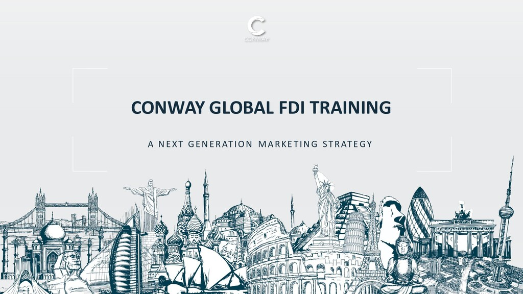 A NEXT GENERATION MARKETING STRATEGY CONWAY GLO...