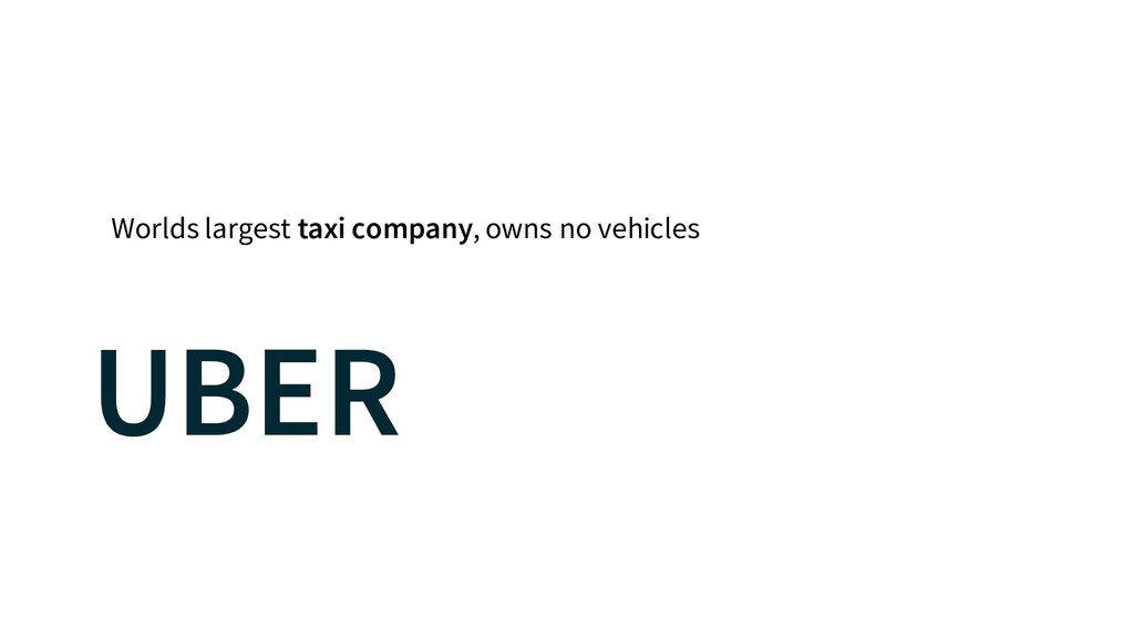 Worlds largest taxi company, owns no vehicles U...