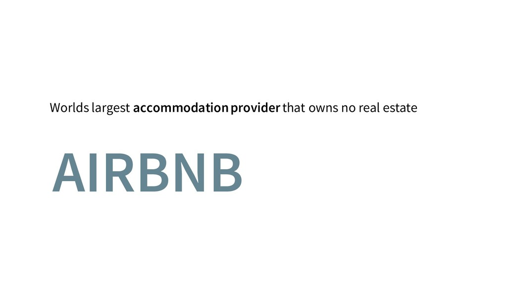 Worlds largest accommodation provider that owns...