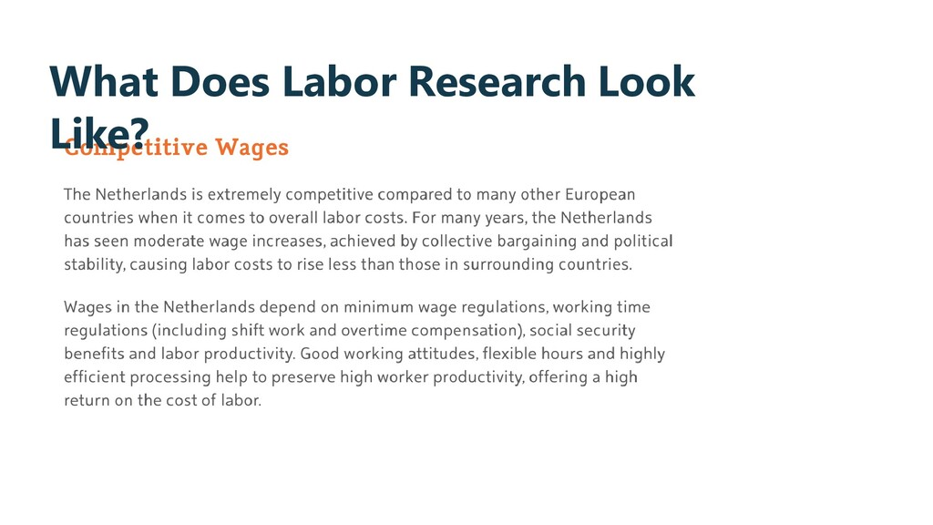 What Does Labor Research Look Like?