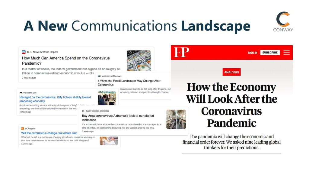 A New Communications Landscape