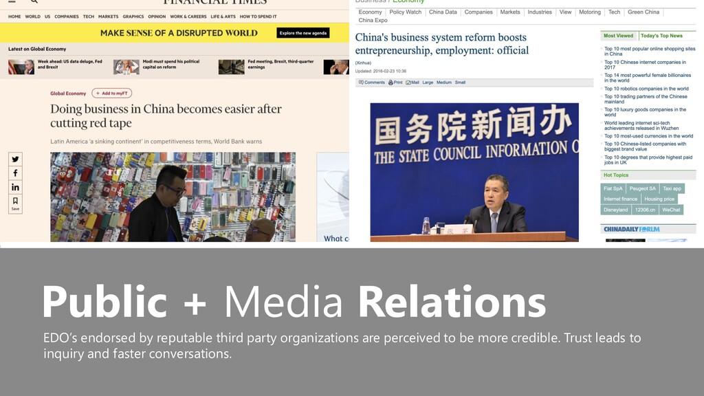 53 Public + Media Relations EDO's endorsed by r...
