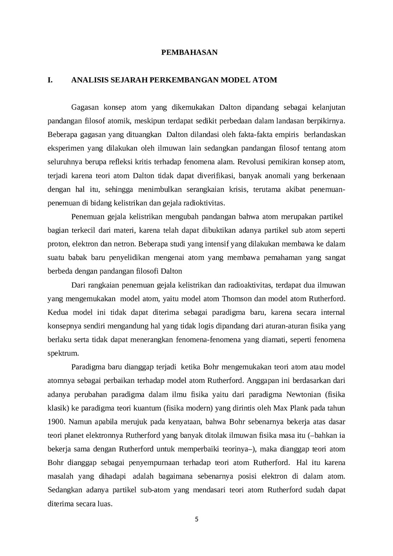 PEMBAHASAN I. ANALISIS SEJARAH PERKEMBANGAN MOD...