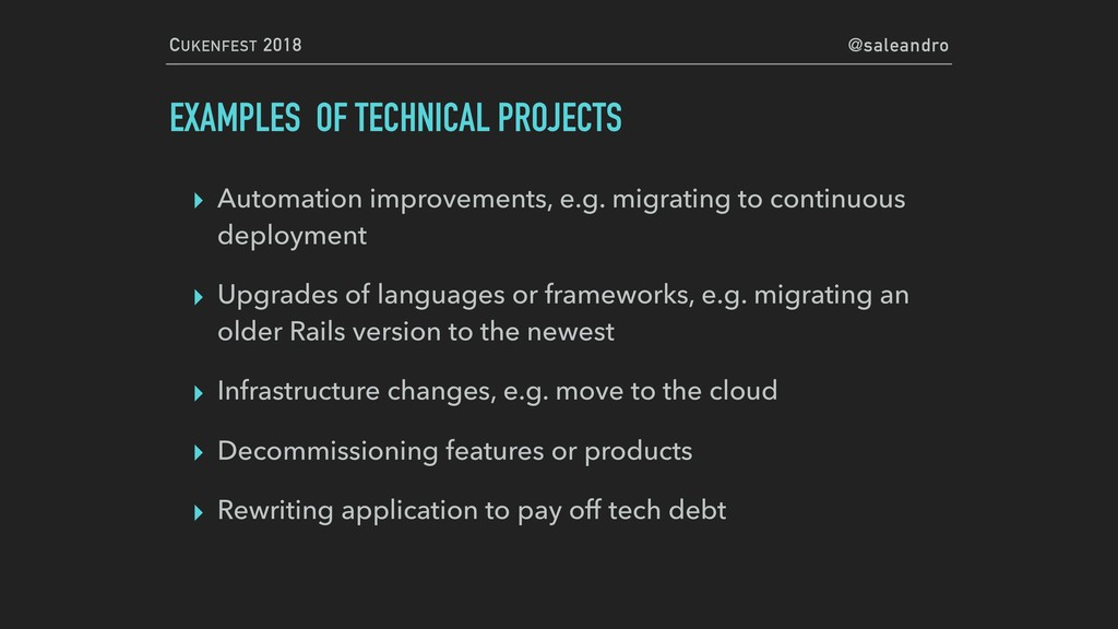 CUKENFEST 2018 @saleandro EXAMPLES OF TECHNICAL...