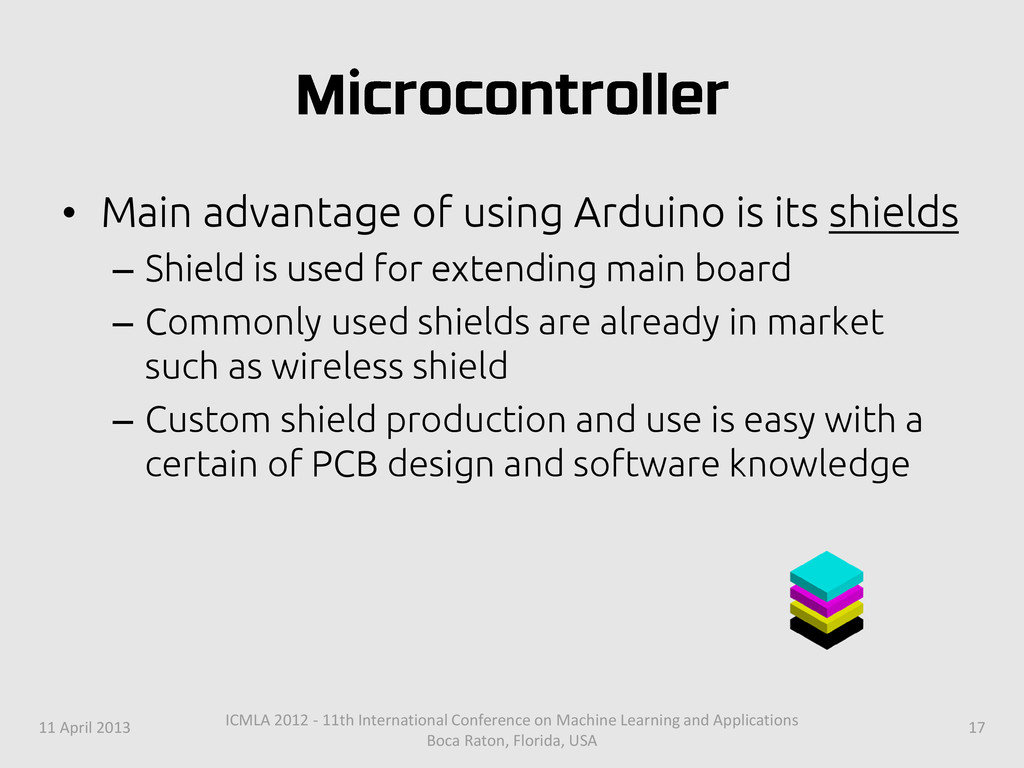 • Main advantage of using Arduino is its shield...