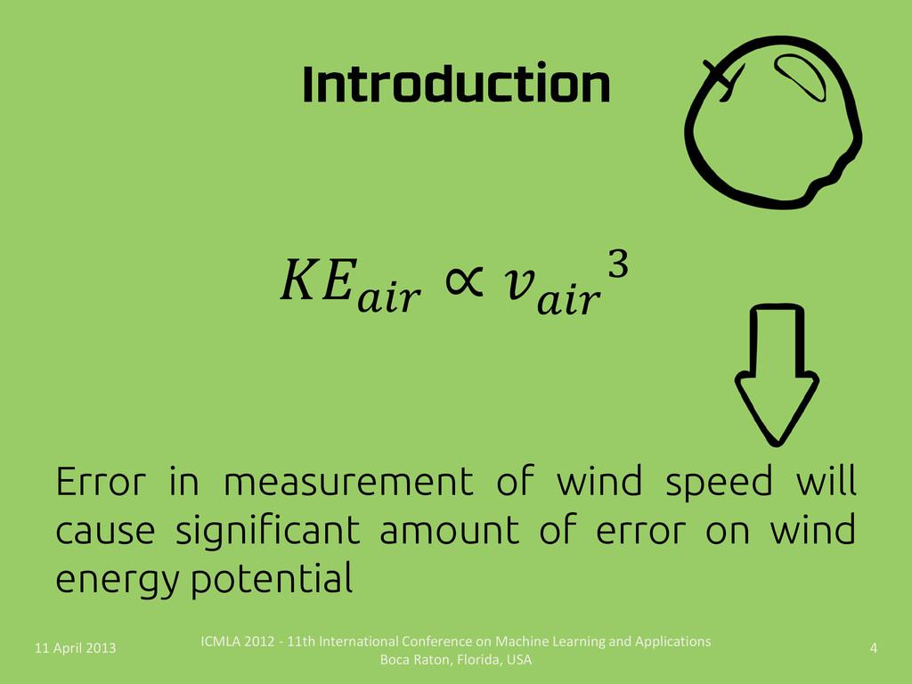 Error in measurement of wind speed will cause s...