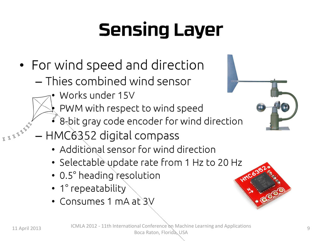 • For wind speed and direction – Thies combined...