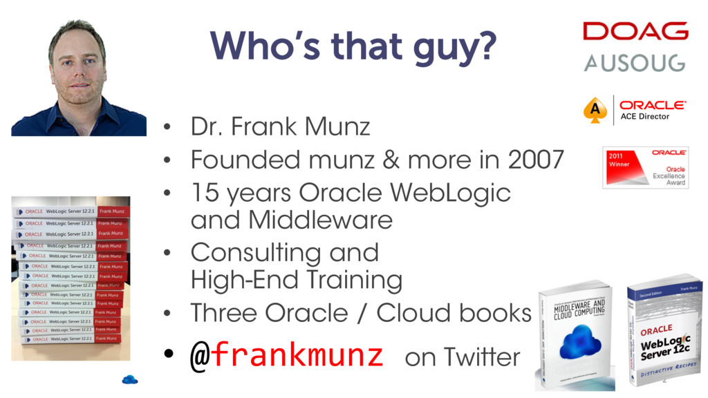 Who's that guy? • Dr. Frank Munz • Founded munz...