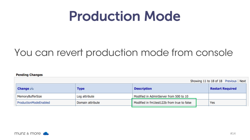 Production Mode You can revert production mode ...