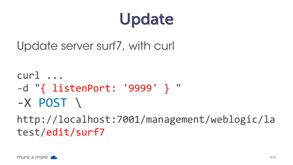 Update Update server surf7, with curl curl ... ...