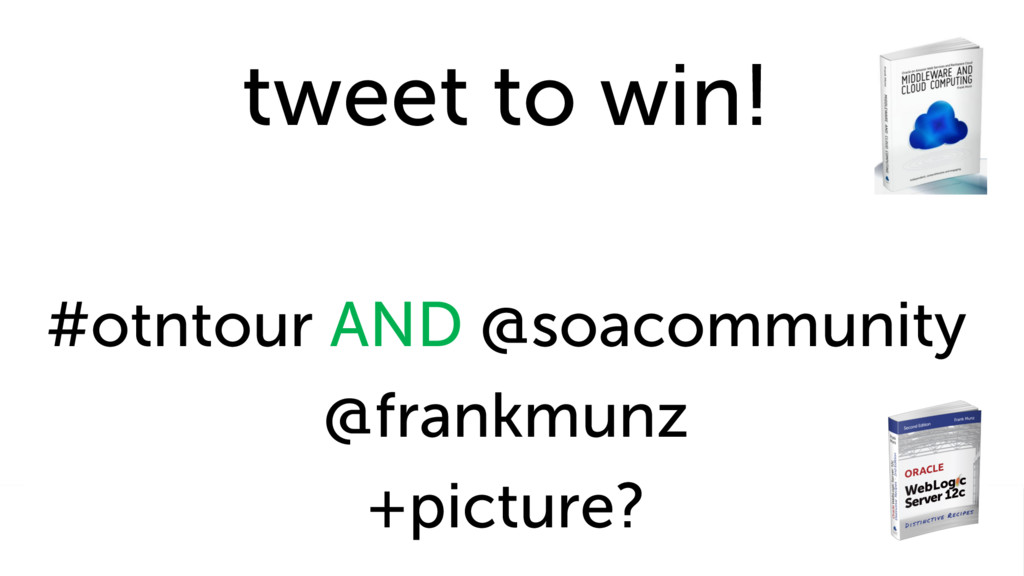 tweet to win! #otntour AND @soacommunity @frank...