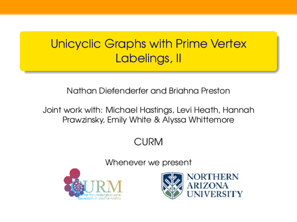 Unicyclic Graphs with Prime Vertex Labelings, I...