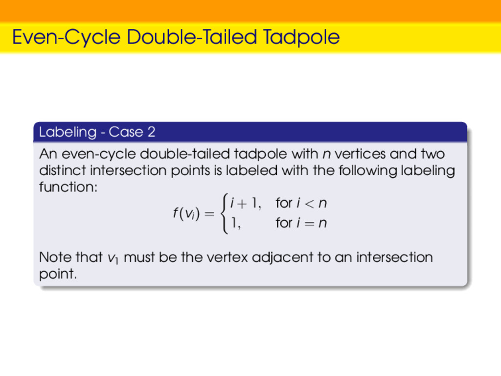 Even-Cycle Double-Tailed Tadpole Labeling - Cas...