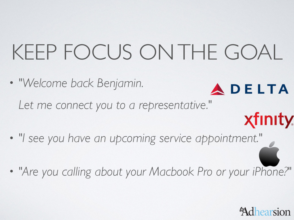 """KEEP FOCUS ON THE GOAL • """"Welcome back Benjamin..."""
