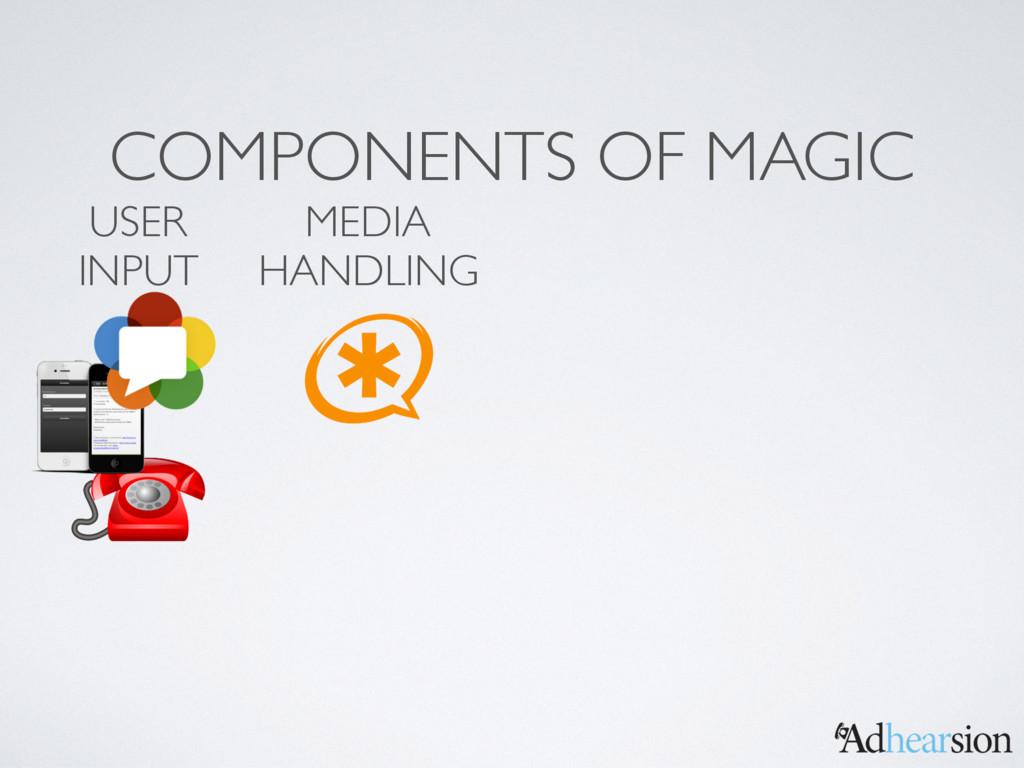 COMPONENTS OF MAGIC MEDIA HANDLING USER INPUT