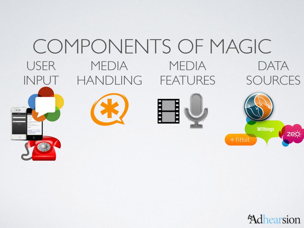 COMPONENTS OF MAGIC MEDIA HANDLING MEDIA FEATUR...