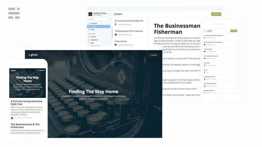 Just a blogging platform
