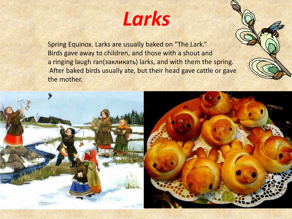 Larks Spring Equinox. Larks are usually baked o...
