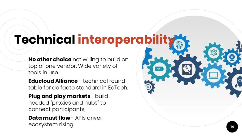 Technical interoperability No other choice not ...
