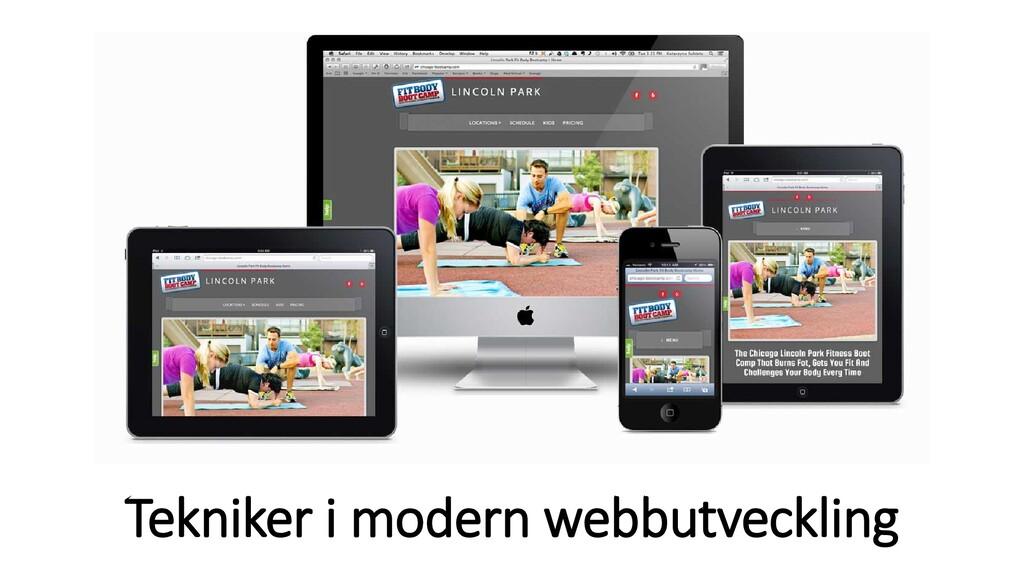 Tekniker i modern webbutveckling