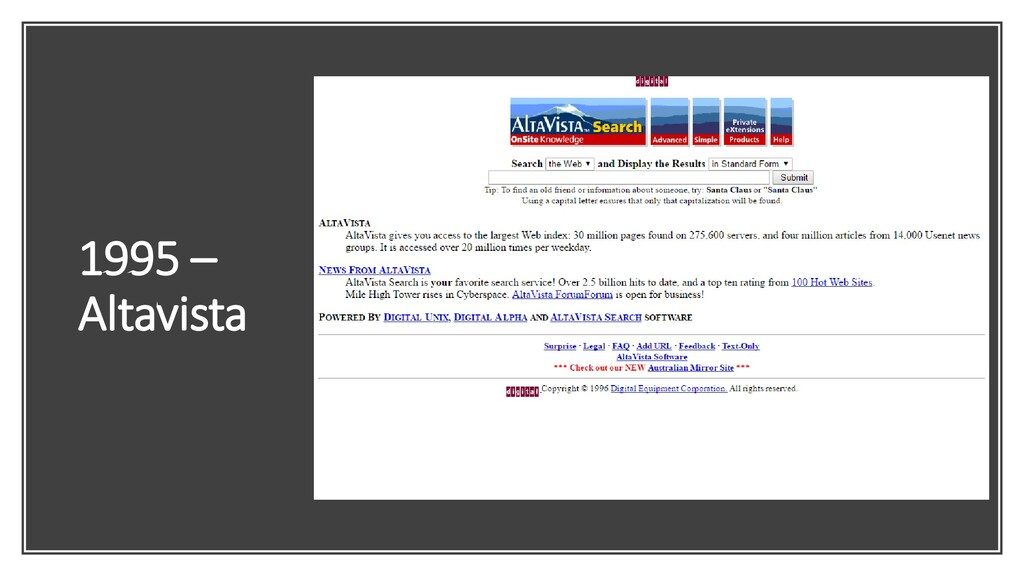 1995 – Altavista