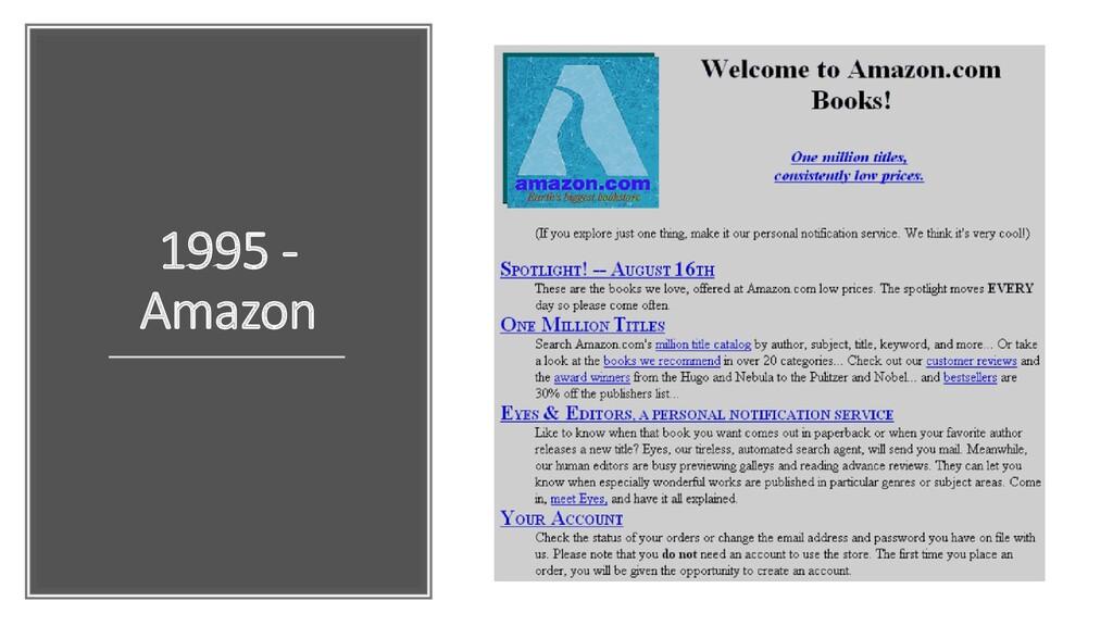 1995 - Amazon