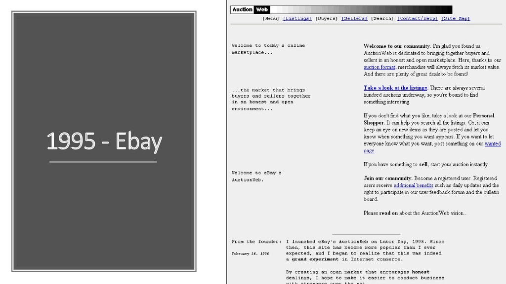 1995 - Ebay
